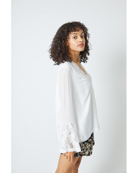 COTON SILK LACE BLOUSE